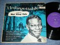 "NAT KING COLE - UNFORGETTABLE / 1952 US ORIGINAL PURPLE Label  MONO 10"" LP"