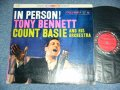 "TONY BENNETT with COUNT BASIE and his ORCHESTRA - IN PERSON!  / 1959 US ORIGINAL ""6 EYES Label"" STEREO Used LP"