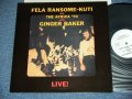 FELA RANSOME-KUTI and The Africa '70 with GINGER BAKER - LIVE! / REISSUE Used LP