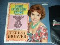 TERESA BREWER - SONGS EVERYBODY KNOWS  ( Ex++/Ex+) / 1961 US AMERICA ORIGINAL MONO Used LP