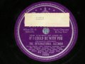The INTERNATIONAL JAZZMEN with Vocal KAY STARR (Benny Carter,Coleman Hawkins,Bill Coleman,Buster Bailey,Nat King Cole,Oscar Moore,John Kirby,Max Roach) - IF I COULD BE WITH YOU  / US ORIGINAL Used 78rpm SP