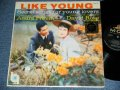 "ANDRE PREVIN / DAVID ROSE  -  LIKE YOUNG  : SELECT SONGS FOR YUNG LOVERS ( Ex/Ex++ ) / 1959 US AMERICA ORIGINAL 2nd Press ""BLACK Label""   STEREO  Used LP"