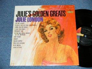 """画像1: JULIE LONDON - JULIE'S GOLDEN GREATS ( COLOR JACKET: Ex+/Ex+++ Looks:Ex+) / 1963 US AMERICA ORIGINAL """"OLD Style 1st Press Label"""" STEREO Used LP"""