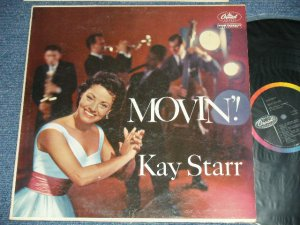 "画像1: KAY STARR - MOVIN'!  ( Ex++/Ex+++ : EDSP ) / 1959 US AMERICA ORIGINAL ""BLACK with RAINBOR Ring & CAPITOL Logo on LEFT SIDE"" Label MONO  Used LP"