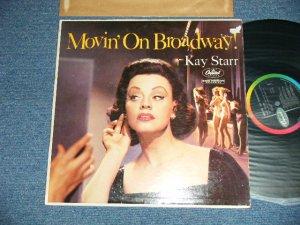 """画像1: KAY STARR - MOVIN' ON BROADWAY! (Ex/Ex++Tape Seam,TEAROFC)  / 1959 US AMERICA ORIGINAL """"BLACK with RAINBOR Ring & CAPITOL Logo on LEFT SIDE"""" Label MONO  Used LP"""
