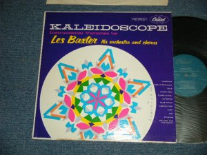 """画像1: LES BAXTER - KALEIDOSCOPE (Ex+/Ex+++ EDSP, WOFC)  / 1955 US AMERICA ORIGINAL 1st Press """"TURQUOISE Label""""   MONO Used LP"""