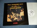 "FELA ANIKULAPO KUTI & AFRICA 70 with GINGER BAKER of Cream - LIVE!  (NEW) /   EUROPE REISSUE ""BRAND NEW""  LP"