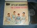 "THE LENNON SISTERS -   LET'S GET ACQUAINTED  (Ex++/Ex++ ) / 1957  US AMERICA ORIGINAL ""BLACK LABEL"" MONO Used  LP"