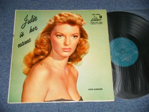 "画像1: JULIE LONDON - JULIE IS HER NAME ( DEBUT ALBUM ) ( A) LRP-3006-D-4-B     B) LRP-3006-A-D) ( Ex+/Ex+++ EDSP, Tape seam ) / 1956 US AMERICA ORIGINAL MONO ""1st Press LIBERTY Credit Front Cover""""1st  Press Glossy Jacket "" ""2nd Press BACK Cover"" ""HEAVY USING JACKET""  ""1st PRESS Turquoise Color LABEL"" Used LP"