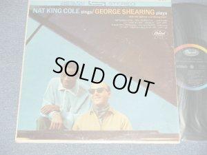 """画像1: NAT KING COLE GEORGE SHEARING  - NAT KING COLE sings /GEORGE SHEARING plays  (Ex++/Ex+++) / 1963 US AMERICA ORIGINAL """"BLACK with RAINBOW & CAPITOL Logo on Top Label""""  Used LP"""