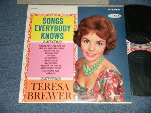 画像1: TERESA BREWER - SONGS EVERYBODY KNOWS  (Ex++/Ex+++ Looks:E++) / 1961 US AMERICA ORIGINAL STEREO Used LP