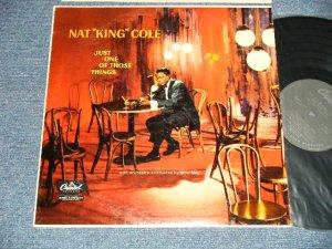"""画像1: NAT KING COLE - JUST ONE OF THOSE THINGS (Ex+++/Ex+++ Looks:Ex+) / 1957 US AMERICA ORIGINAL """"BLACK with SILVER PRINT Label""""  MONO Used LP"""