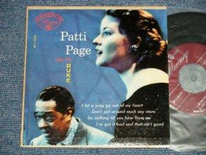 """画像1: PATTI PAGE - PATTI SINGS THE DUKE (Ex+/Ex++ EDSP) / 1953 US ORIGINAL 4 TRACKS Used 7"""" 45 rpm EP"""