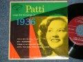 "PATTI PAGE - PATTI SINGS THE HIT SONG OF 1936 (Ex++/Ex+ Looks:Ex++ EDSP)  / 1953 US ORIGINAL 4 TRACKS Used 7"" 45 rpm EP"