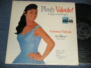"""画像1: CATERINA VALENTE with SY OLIVER and His ORCHESTRA - PLENTY VALENTE! SINGIN' AND SWINGIN'  (Ex+/MINT- SWOBC) / 1957 US AMERICA ORIGINAL 1st Press """"BLACK with SILVER PRINT Label""""  MONO Used LP"""
