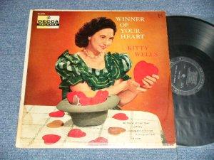 画像1: KITTY WELLS - WINNER OF YOUR HEART (Ex-/Ex+++ Looks:Ex++ WOBC, EDSP) / 1956 US AMERICA ORIGINAL    MONO Used LP