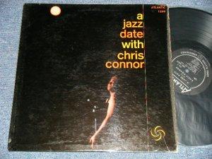 """画像1: CHRIS CONNOR - A JAZZ DATE WITH CHRIS CONNOR (Ex++/Ex++) / 1958 US AMERICA ORIGINAL """"BLACK with SILVER Print Label"""" MONO Used  LP"""