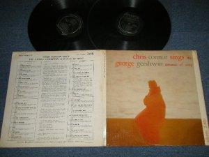 """画像1: CHRIS CONNOR - Chris Connor Sings The George Gershwin Almanac Of Song (Ex+++, Ex+, VG/MINT- WTRDMG) / 1957 US AMERICA ORIGINAL """"BLACK with SILVER Print Label"""" MONO Used  2-LP"""