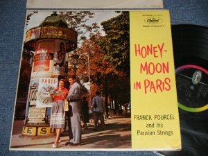 "画像1: FRANK POULCEL and his PARISIAN STRINGS - HONEY-MOON IN PARIS  (Ex++/MINT- WOBC, WOL) / 1957 US AMERICA ORIGINAL 1st Press ""BLACK with RAINBOW 'CAPITOL' Logo on LEFT Label"" MONO Used  LP"