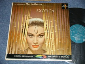 "画像1: MARTIN DENNY - EXOTICA (Ex++, VG+++/Ex+++ Looks:MINT-  SWOFC, TEAROBC)  / 1957 US AMERICA ORIGINAL 1st Press ""TURQUOISE Label"" MONO Used LP"