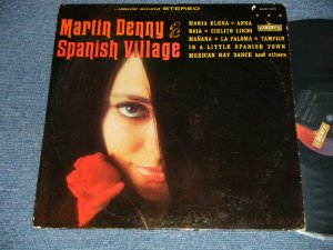 "画像1: MARTIN DENNY - SPANISH VILLAGE (Ex+/Ex Looks:Ex++ STEAROFC EDSP)  / 1965 US AMERICA ORIGINAL 1st Press Label ""BLACK with GOLD LIBERTY on LEFT Label"" STEREO Used LP"