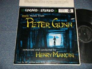 """画像1: ost HENRY MANCINI - The Music from """"PETER GUNN"""" (Ex/MINT- TEAROFC, SPLIT) / 1959 WEST-GERMANY ORIGINAL 1st Press """"BLACK with SILVER PRINT Label"""" STEREO Used  LP"""