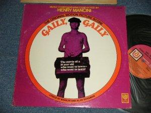 """画像1: OST/ HENRY MANCINI - GAILY, GAILY (Ex++/MINT- SWOBC) / 1969 US AMERICA 1st Press """"PINK & ORANGE Label"""" Used LP"""