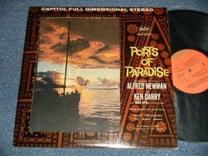 """画像1: ALFRED NEWMAN and KEN DARBY - PORTS OF PARADISE (Ex++/Ex++) /1972 Version US AMERICA REISSUE """"ORANGE with OLIVE GREEN Label"""" Used LP"""
