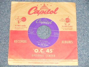 """画像1: The FOUR KNIGHTS - A) I GET SO LONELY  B) I COULDN'T STAY AWAY FROM YOU (Ex+/Ex+)/ 1953 US AMERICA ORIGINAL Used 7"""" 45rpm Single"""