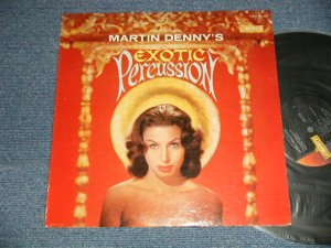 "画像1: MARTIN DENNY -  EXOTIC PERCUSSION (Ex/VG+++ EDSP) / 1961 US AMERICA ORIGINAL 1st Press ""GOLD LIBERTY Logo on LEFT Label""  MONO Used   LP"