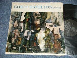 """画像1: CHICO HAMILTON QUINTET - CHICO HAMILTON QUINTET( Ex-/Ex++ EDSP WOBC) / 1957 US AMERICA ORIGINAL? """"BLACK with SILVER PRINT Label"""" MONO Used LP"""