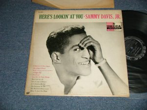 "画像1: SAMMY DAVIS, JR. - HERE'S LOOKIN' AT YOU (Ex/Ex++ EDSP) / 1956 US AMERICA ORIGINAL 1st Press ""BLACK Label"" MONO Used  LP"