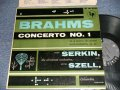 """Brahms Rudolf Serkin, The Cleveland Orchestra, George Szell - Concerto No.1 In D Minor For Piano And Orchestra (Ex++/MINT-, Ex  EDSP) / 1958 US AMERICA ORIGINAL """"GRAY with 6 EYES LABEL"""" MONO Used LP"""