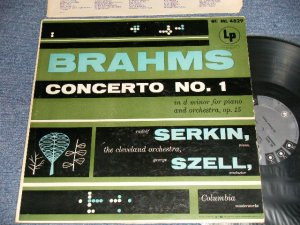 """画像1: Brahms Rudolf Serkin, The Cleveland Orchestra, George Szell - Concerto No.1 In D Minor For Piano And Orchestra (Ex++/MINT-, Ex  EDSP) / 1958 US AMERICA ORIGINAL """"GRAY with 6 EYES LABEL"""" MONO Used LP"""