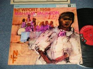 """画像1: MAHALIA JACKSON - NEW PORT 1958 (Ex++/MINT-)/ 1958 US AMERICA ORIGINAL 1st Press """"6 EYE'S Label"""" MONO Used LP"""