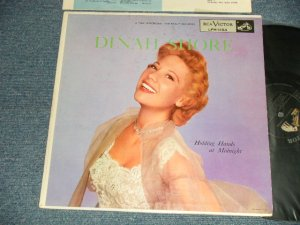 "画像1: DINAH SHORE - HOLDING HANDS AT MIDNIGHT (Ex+++/Ex++, Ex+++) / 1955 US AMERICA ORIGINAL 1st Press ""BLACK with SILVER Print LongPlay at Bottom Label"" MONO Used LP"