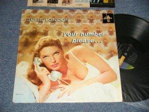 """画像1: JULIE LONDON - YOUR NUMBER PLEASE ...(Ex-/Ex+++ Looks:Ex++ EDSP, TEAR) / 1960 Version US AMERICA 2nd Press """"GOLD LIBERTY on LEFT Label"""" STEREO Used LP"""