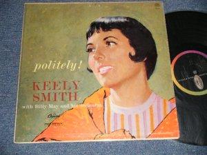 """画像1: KEELY SMITH - POLITELY ! )Ex+/Ex+++ TAPE SEAM) / 1959 US AMERICA ORIGINAL 1st Press """"BLACK with RAINBOW 'CAPITOL' Logo on LEFT Label"""" MONO Used LP"""